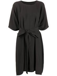 платье-футболка с драпировкой и завязками Rick Owens 156604955248
