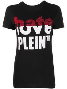 футболка Love Plein со стразами и логотипом PHILIPP PLEIN 1554361883