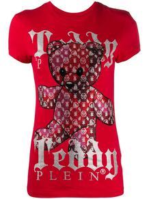 футболка Teddy Bear с круглым вырезом и монограммой PHILIPP PLEIN 154053398883