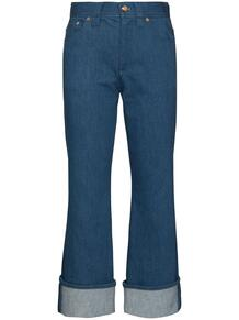 укороченные расклешенные джинсы с подворотами Chloe 152535715248