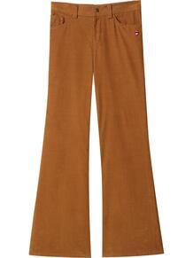 расклешенные вельветовые брюки Marc by Marc Jacobs 159654765053