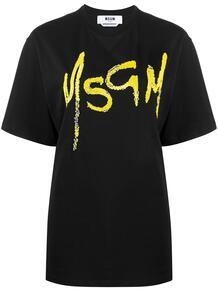 футболка с пайетками и логотипом MSGM 1547618383