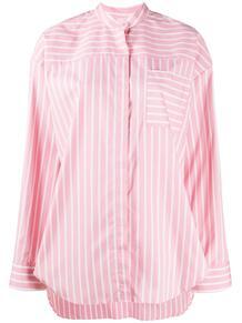 полосатая рубашка без воротника MSGM 155701145248
