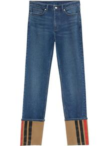 прямые брюки с подворотами Burberry 161144935052