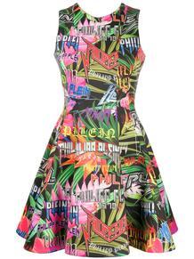 расклешенное платье с логотипом PHILIPP PLEIN 1467435783