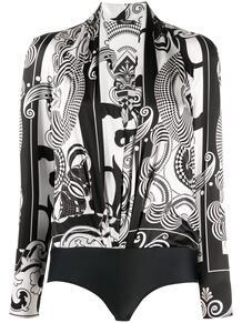боди с длинными рукавами и абстрактным принтом Versace 154246005250