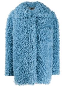 фактурное пальто оверсайз без застежки Stella Mccartney 153520155154