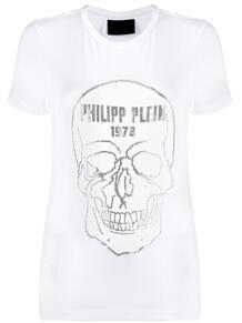 футболка с декором Skull и стразами PHILIPP PLEIN 1404810676