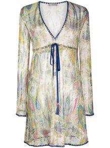 прозрачное платье с узором пейсли Etro 162284005248