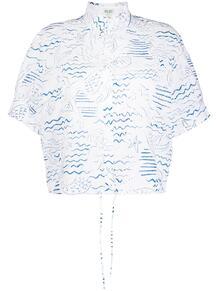 кружевная блузка с принтом Kenzo 150417515248