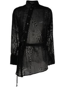 прозрачная рубашка в полоску Ann Demeulemeester 157789235250