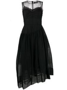 платье с прозрачным слоем SIMONE ROCHA 154314524952