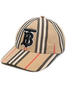 бейсболка в полоску Icon Stripe Burberry 1612866376