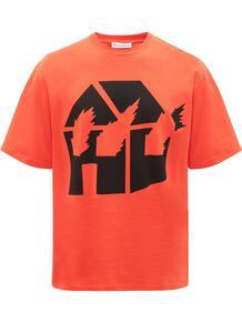 футболка с графичным принтом из коллаборации с DW JW Anderson 1541948976