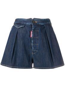 джинсовые шорты со складками Dsquared2 150087325154