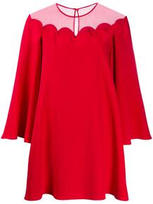 платье мини с прозрачной вставкой Valentino 149419055156