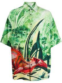 рубашка с короткими рукавами и принтом Valentino 1510824077