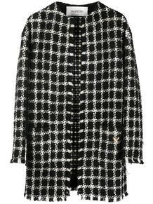 твидовое пальто VGOLD в клетку Valentino 150097835250