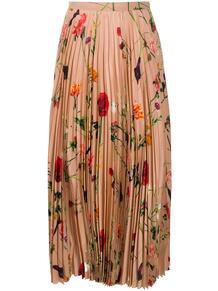 плиссированная юбка с цветочным принтом Valentino 155241435248