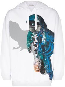 худи с кулиской и принтом Spaceman Valentino 1508823083