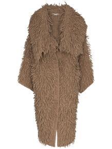 фактурное пальто с объемным воротником Stella Mccartney 155846355156