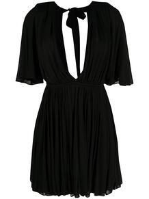 расклешенное платье с глубоким декольте Yves Saint Laurent 1578285677