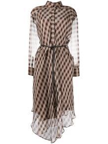 полупрозрачное платье в клетку BRUNELLO CUCINELLI 154642638883