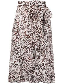 юбка с запахом и леопардовым принтом Pinko 16122998525478