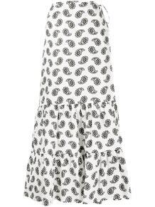 юбка миди с принтом пейсли MSGM 161550355254