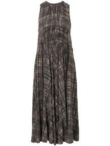 платье в клетку с драпировкой Proenza Schouler White Label 1598666956