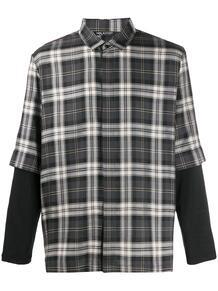 клетчатая рубашка свободного кроя Neil Barrett 1494113483
