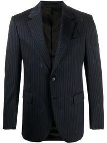 пиджак в тонкую полоску с логотипом Versace 149131915348
