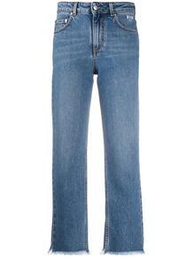 укороченные джинсы с бахромой MSGM 156154645252