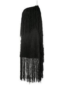 платье на одно плечо с бахромой MSGM 152885915250