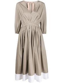 расклешенное платье с рукавами три четверти №21 151528635252