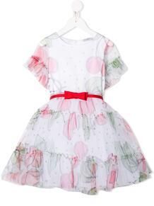 платье А-силуэта с принтом Monnalisa 1513869350