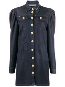 джинсовое платье с объемными плечами Versace 148095755252