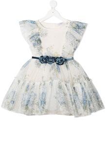 платье с цветочным принтом и оборками Monnalisa 1566098252