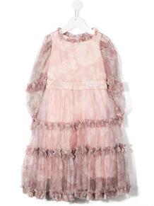 платье с оборками и цветочным принтом Monnalisa 1551970854