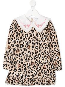 платье с леопардовым принтом Monnalisa 1591691756