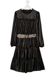 платье с поясом и складками Monnalisa 1590346877