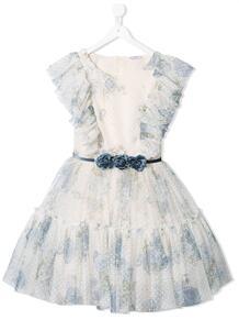 платье из тюля с цветочным принтом Monnalisa 1590745183