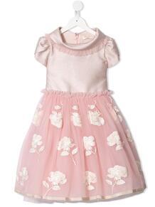 расклешенное платье с цветочной вышивкой Monnalisa 158837054948