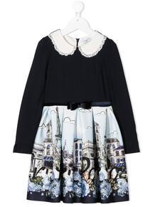 платье с принтом Monnalisa 1559056150