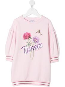 платье-толстовка с принтом Dream Monnalisa 1620912754