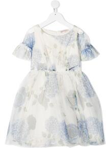 расклешенное платье с цветочным принтом Monnalisa 162091844950