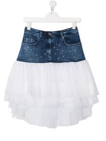 джинсовая юбка с тюлем Monnalisa 163119088883