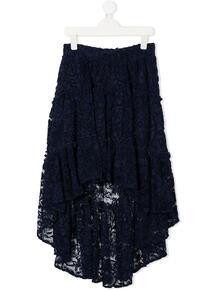 длинная юбка с цветочным кружевом Monnalisa 1561777583