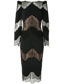 платье миди с кружевными вставками ZUHAIR MURAD 159321515152