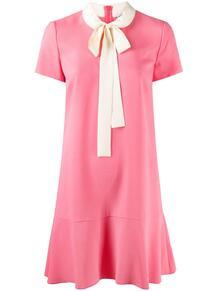 платье-трапеция с бантом RED VALENTINO 161072015248